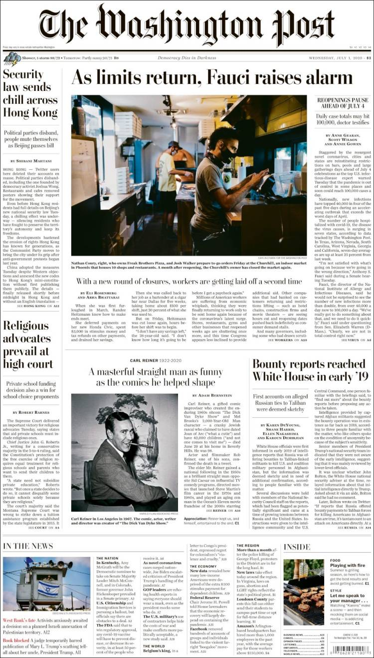 The Washington Post - 1 Julio 2020  Washington_post.750
