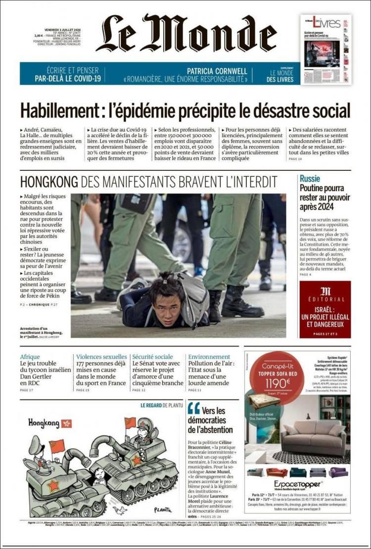 Le Monde 3- 7 -2020 Lemonde.750