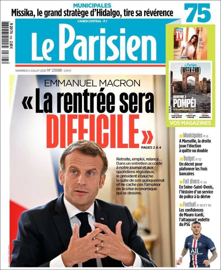 LE PARISIEN 3-7-2020 Parisien.750