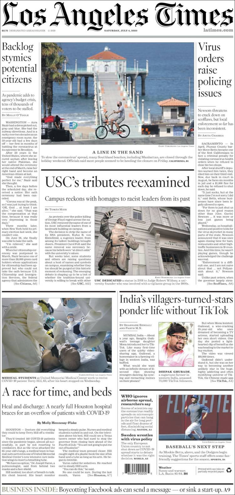 Los Angeles Times - Julio 4-7-2020 Latimes.750