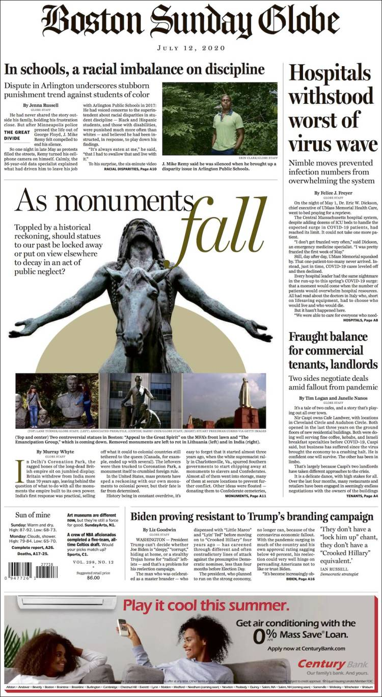 THE BOSTON GLOBE -SUNDAY 12-7-2020 Boston_globe.750