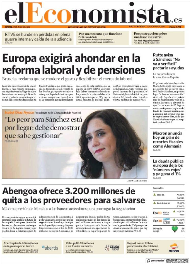 DIARIO EL ECONOMISTA 14-7-2020 Eleconomista.750