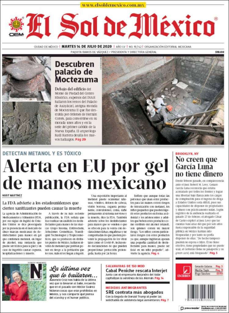 DIARIO SOL DE MEXICO 14-7-2020 Mx_sol_mexico.750