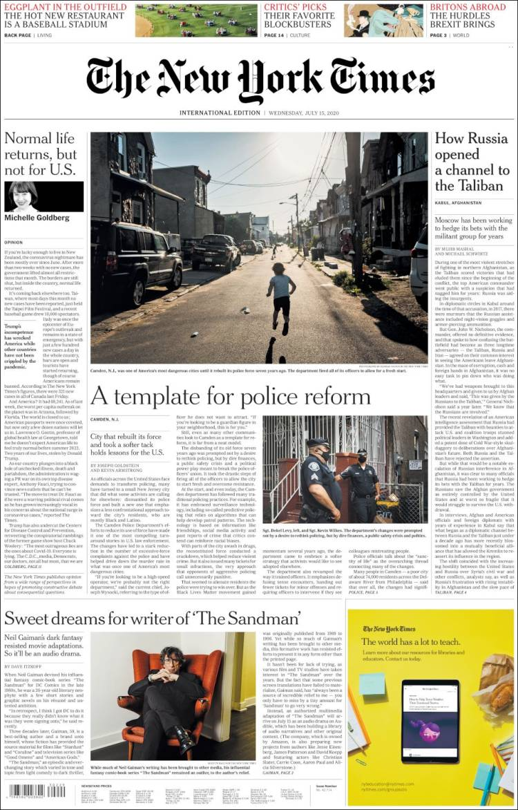 THE NEW YORK TIMES 15-7-2020 Int_newyork_times.750