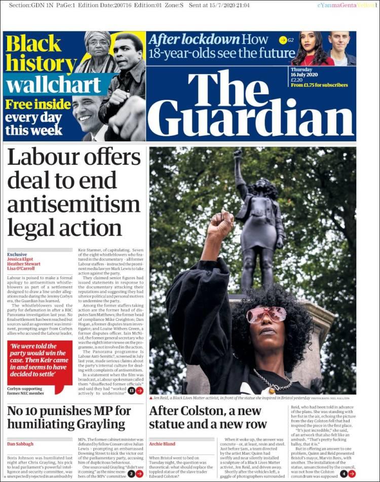THE GUARDIAN 16.7.2020 Guardian.750