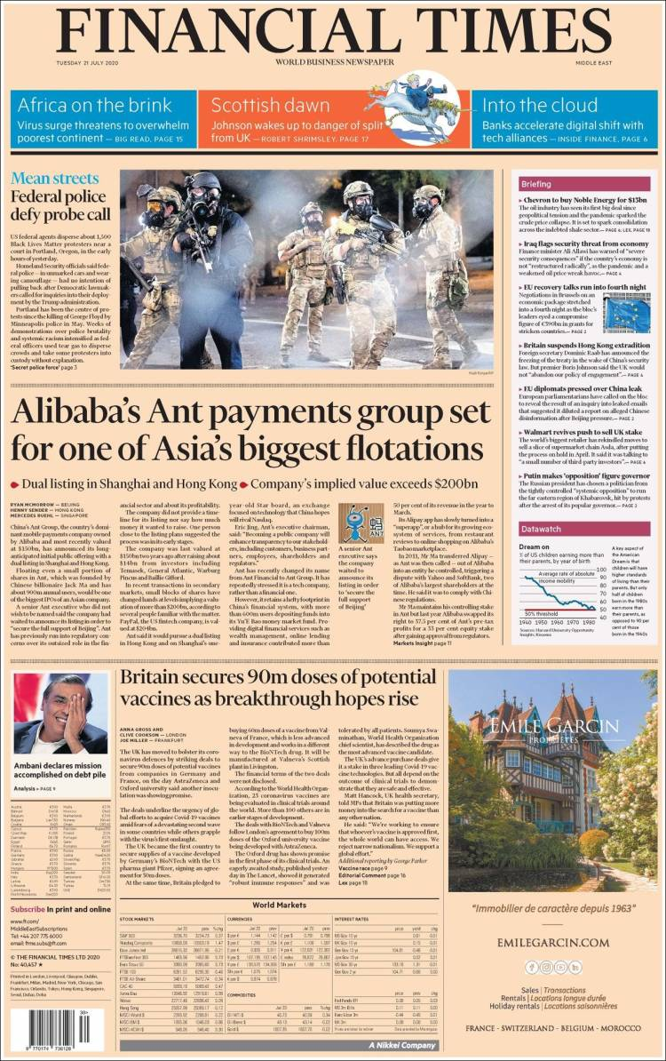 FINANCIAL TIMES EUROPA  21-7-2020 Ft_us.750