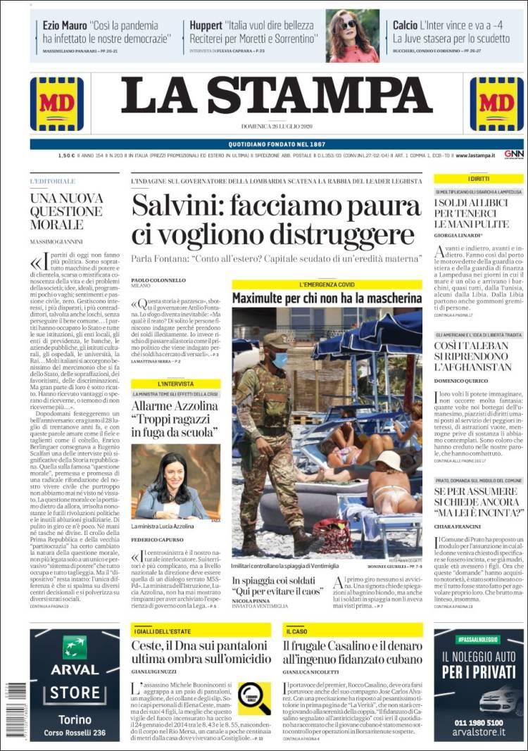 LA STAMPA 26-7-2020 Stampa.750