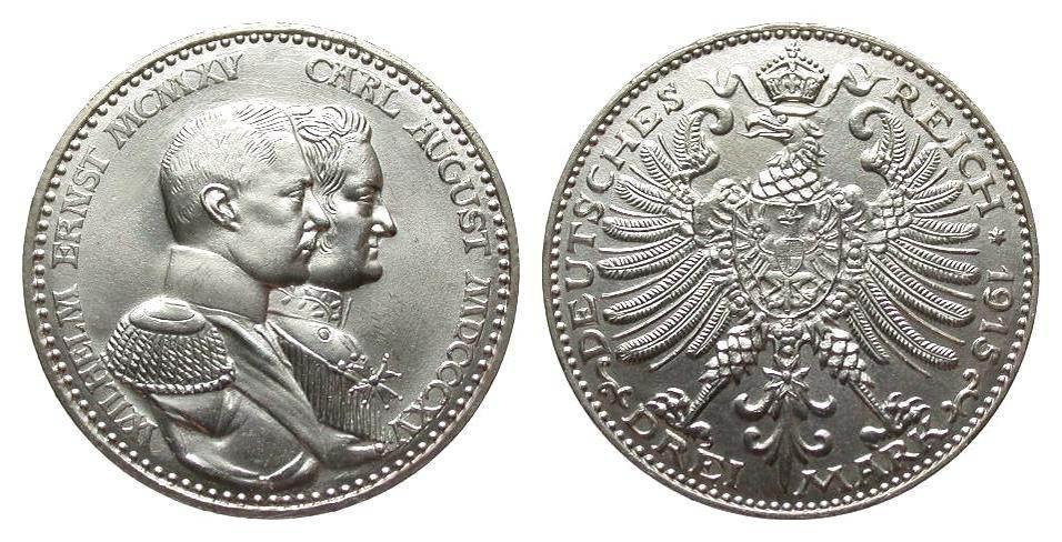 Que moneda eligo? 3 mark Sajonia-Weimar-Eisenach K2111
