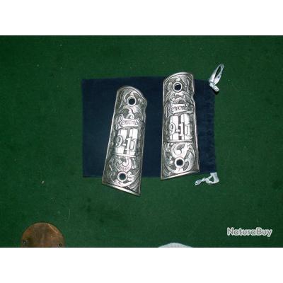Plaquettes (Grips) sur Ebay __00001_Plaquettes-etain-colt-1911