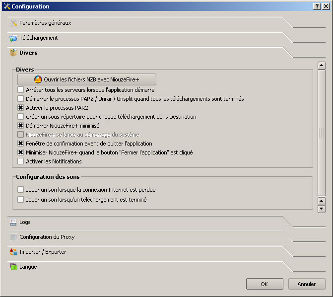 Tutoriel pour configurer NiouzeFire+ Sqo7
