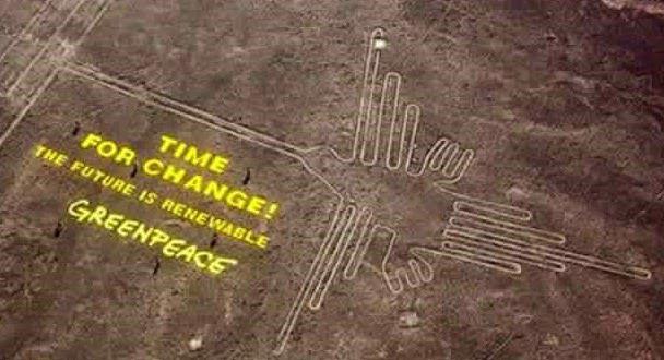Greenpeace pourrait avoir endommagé définitivement un des sites des lignes de Nazca au Pérou Ob_01dd56_nazca