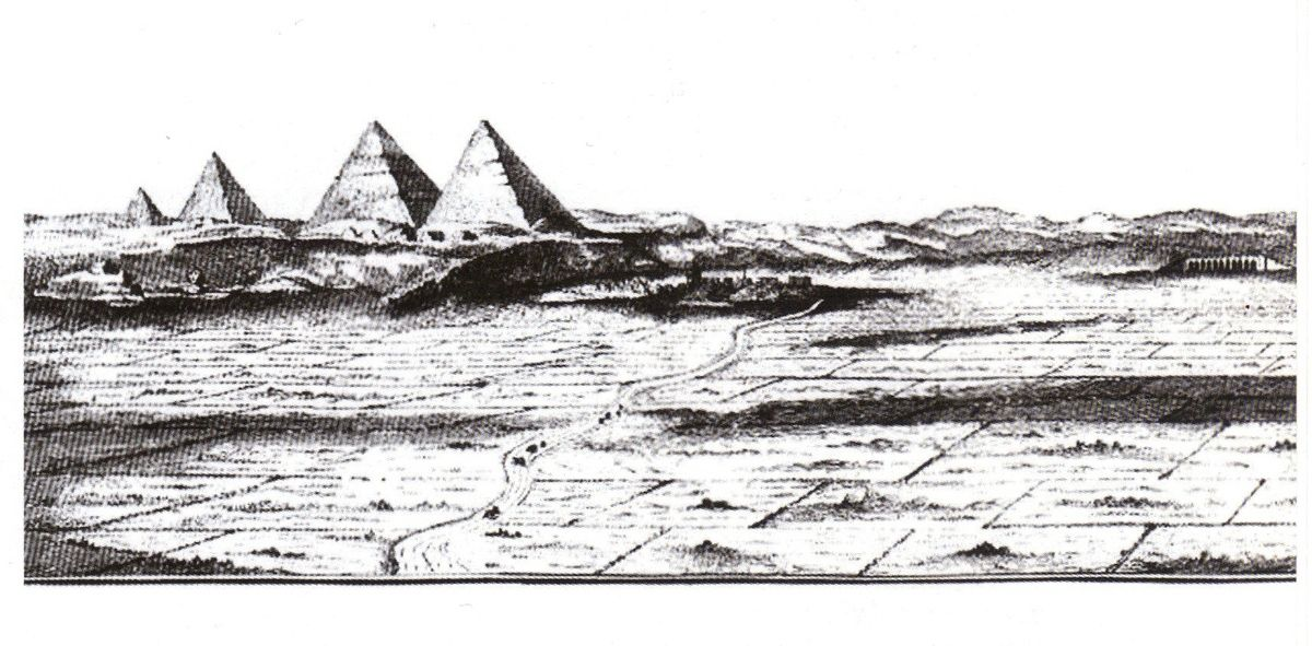 Egypte: Découverte d'une mystérieuse 4ème pyramide oubliée à Gizeh Ob_1f9503_ob-23fa60-dessin4pyramidesnorden