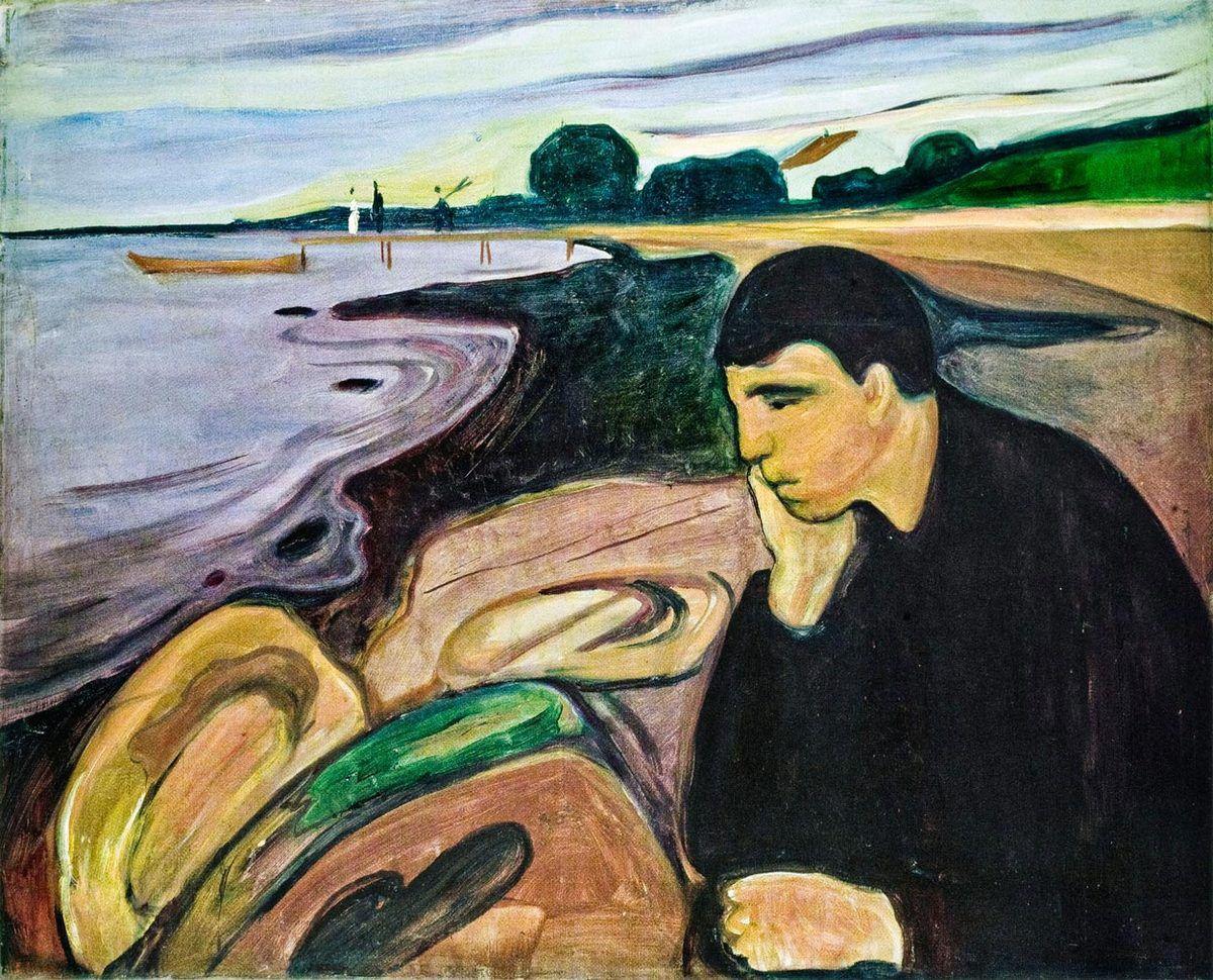 La tristesse - Alphonse de Lamartine Ob_eb63df_edvard-munch-melancolie