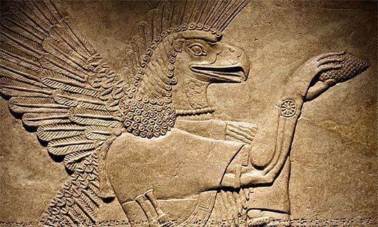 oeil - La glande pinéale ce 3ème Oeil d'Horus, que l'on nous empêche d'utiliser…  Ob_d8fd4c_abzu-sumer-vautour-basrelief-543po