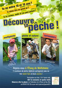 Les ateliers pêche de l'été aux étangs de Wolfisheim Affiche_initiation