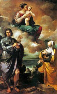 27 août Sainte Monique Guercino-Virgin--Saint-Pancras-and-Saint-Monica--1615-