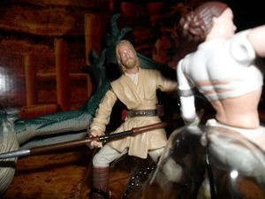 Collection n°182: janosolo kenner hasbro - Page 2 Obi-wan-geonosis-battle-arena