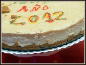 """TARTA MOUSSE MASCARPONE Y TURRON 2012""""FELIZ AÑO"""" Tarta-turron"""
