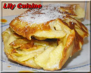 galette - Galette de pomme et de noix de coco F0643