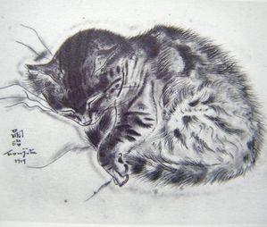 Le chat en art et en mots. Foujita-chats-040