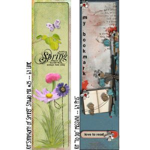 "{MissVivi} CU ""Bouquet"" et 4 ""Wedding Templates"" MissVivi_BookMarks_Vol1_CT_pv2"