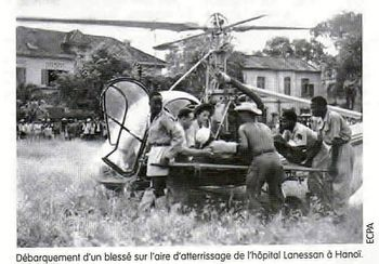 1er évacuation sanitaire en Hélico durant la guerre d'Indo Evacuations-sanitaire-Indochine--1-