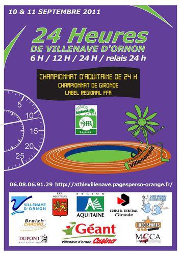 24 h de Villenave d'Ornon: 10-11/09/2011 AFFICHE-a4