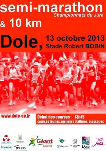 marathon - 10 km et Semi-Marathon de Dole (13/10/13) Affiche_semi-2013