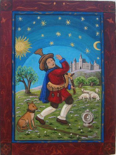 Quelques métiers médiévaux Les-bergers-2012