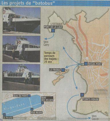 lyon - Maritime courtes distances, lacustre et fluvial Batobus-provence-210608imag