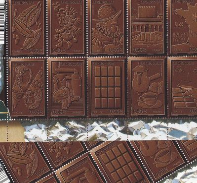 Salon du chocolat Timbres-chocolat