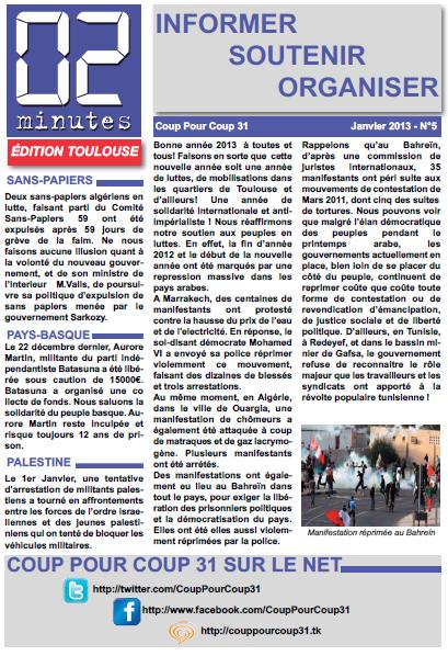 """Bulletin """"02 Minutes"""" (Coup Pour Coup 31) Une-n5"""