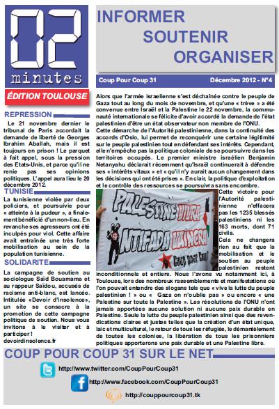"""Bulletin """"02 Minutes"""" (Coup Pour Coup 31) Une4dec"""