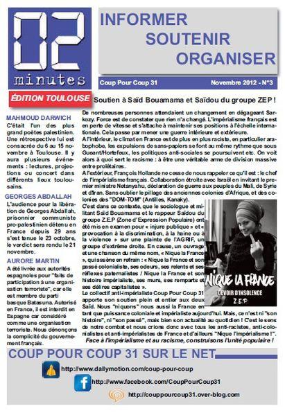 """Bulletin """"02 Minutes"""" (Coup Pour Coup 31) 02-min-novembre"""