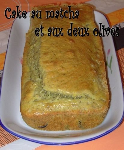Cake au thé matcha et aux deux olives Cake-matcha-olives2