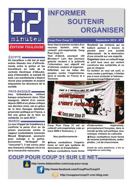 """Bulletin """"02 Minutes"""" (Coup Pour Coup 31) 02-Minutes-n1_Page_1"""