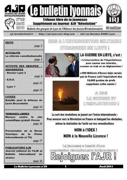 Le Bulletin Lyonnais (AJR) Une-BL-29