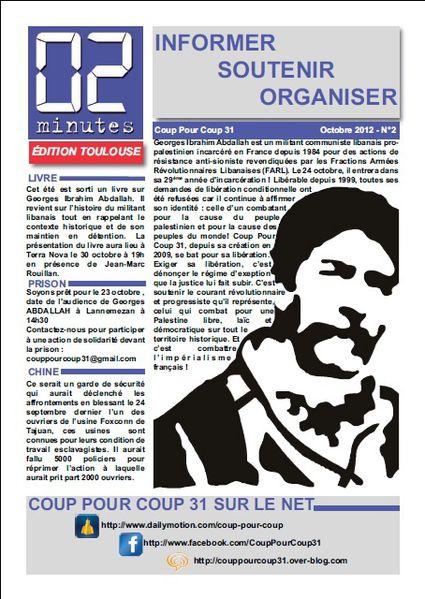 "Bulletin ""02 Minutes"" (Coup Pour Coup 31) 02-Minutes-oct-2012"