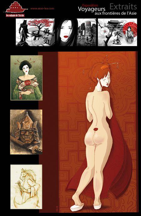 """[AC - ILLUSTRATIONS & TEXTES ILLUSTRES] Artbook """"Aux Frontières de l'Asie"""" Extrait-Expo-Aux-Frontieres-de-l-Asie"""