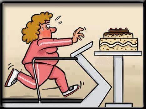 c'est du...gâteau Cake-and-treadmill