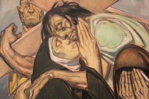 Jeudi/Vendredi/Samedi/Dimanche de Pâques/ 27 mars 2016 Jesus-rencontre-sa-mere--chemin-de-croix---jean-georges-cor