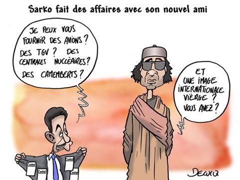 Maîtres du monde économique - Le règne des multinationales et des banques - Page 2 Sarkozy-kadhaffi