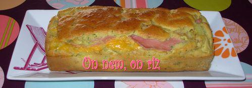 Cake au jambon, au cheddar et à l'oignon Cake-jambon-chedar1