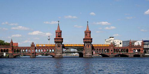 Discution sur l'etoile Pont-oberbaum