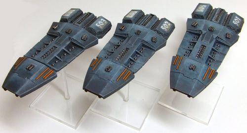 [Firestorm Armada] Flotte Terran WIP Cruisers-1