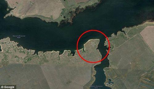 Le mystère d'un pentagramme géant au Kazakhstan, visible sur Google Earth Pentagrame