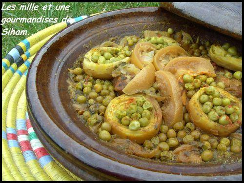Tagine marocain de veau, petits pois et fond d'artichauts! Cuisine-602