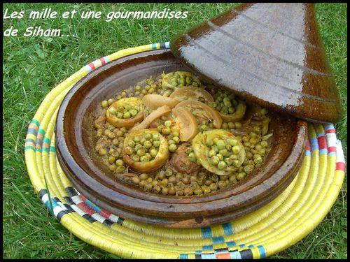Tagine marocain de veau, petits pois et fond d'artichauts! Cuisine-606