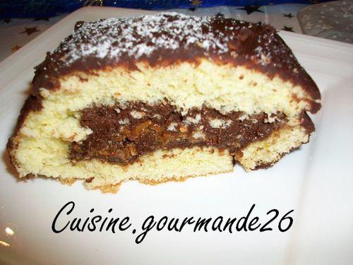 chocolat - Bûche de Noël à la mousse au chocolat et au praliné Buche-2-copie-1