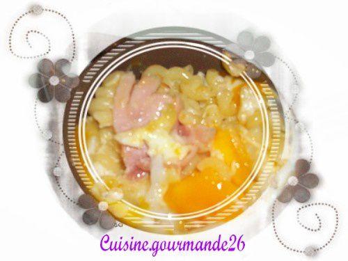 Oeufs cocotte coquillettes et jambon Cocotte-2
